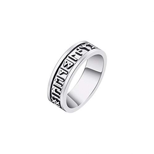 (Womens Mens Ring 1pc Viking Man's Rings Custom Rune Letter Signet Ring Wedding Nordic Vintage Bague Men Jewelry Accessories Women Gift Size)