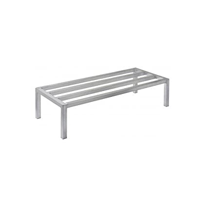 "Focus Foodservice FHADR60248 Heavy Duty Dunnage Rack, 60"" x 24"" x 8"", 2000 lbs Capacity, 5 Support Bars"