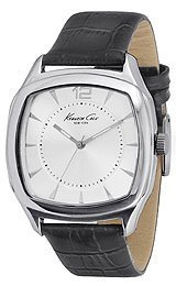 Embossed Watch Croco Strap - Kenneth Cole New York Silver with Croco-Embossed Strap Men's watch #KCW1016