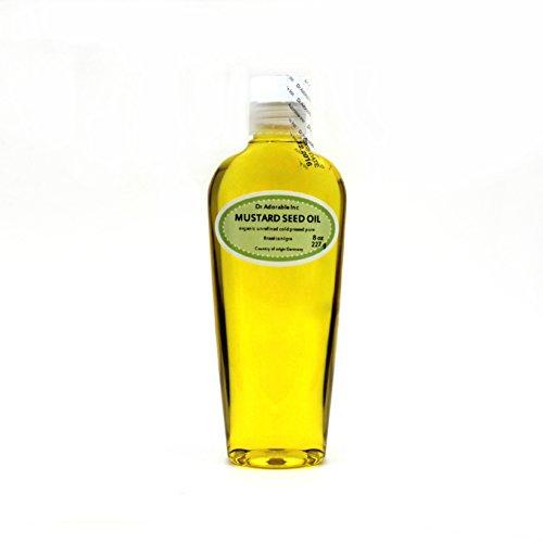 8 Oz Premium Mustard Seed Oil Unrefined Undiluted Organic