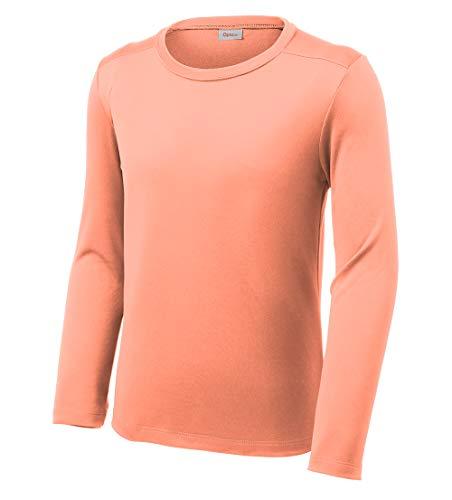 Opna Youth UPF 50+ UV Sun Protection Long or Short Sleeve Boys Girls T-Shirt Athletic Outdoor (Shirt Kids Wicking)