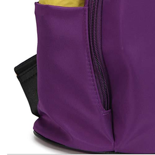 de portátil Impermeable Backpack de Mochila Viaje Tela de Estudiante B Bolsa Mochila Bolso de Oxford Mochila qngg1Y8Rw
