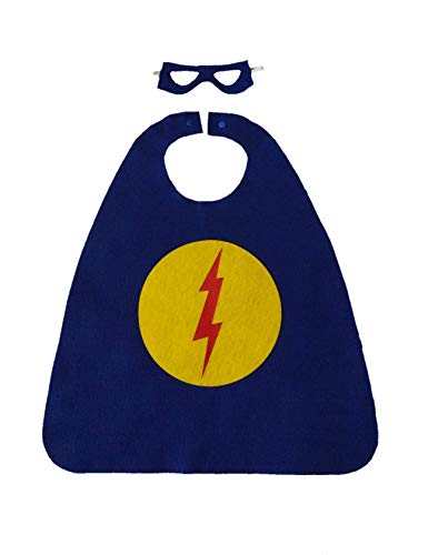 Superhero Costume Set (blue with circle/lightning bolt)]()