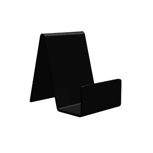 Displaypro - Marcos 5 x pequeño negro acrílico función atril, para sujetar libros, teléfonos, hondos y más. - envío gratuito.