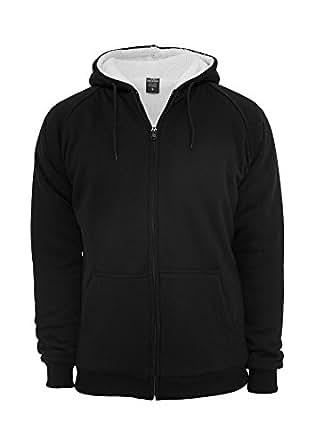 Urban Classics Winter Zip Hoody Black/Ecru, Grey,