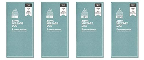 amazon com auto mileage log undated 3 1 4 x 6 1 4 32 forms