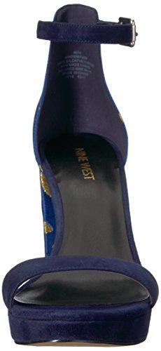 Donne Nove Tessuto Sandalo Navy Dempsey Blu Tessuto Delle Ovest qXwtA0Ax