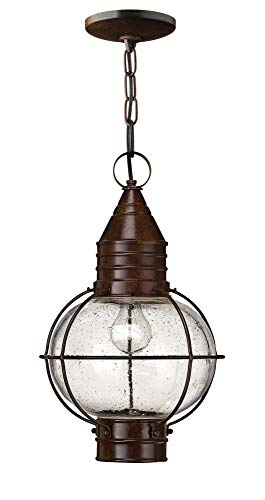 (Hinkley 2202SZ Rustic One Light Hanging Lantern from Cape Cod collection in Bronze/Darkfinish,)