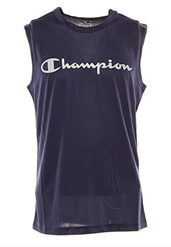 Champion Crewneck mouwloos T-shirt S/L blauw