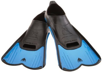 Cressi Light Fin Pool and Training Short Blade Closed Foot Fins, Adult  (Blue, 8.5/9.5)