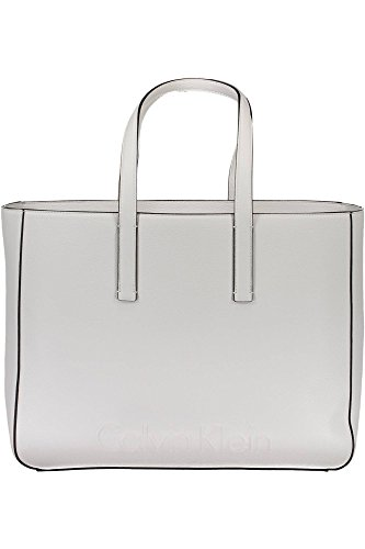 Handbag Medium Calvin Edge Donna Bianco Klein 1x1wBqI