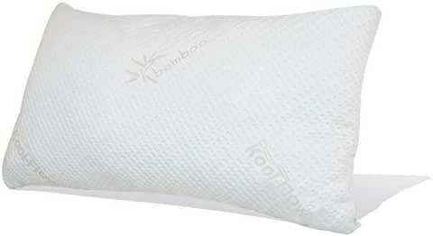 Snuggle-Pedic Original Ultra-Luxury Bamboo Shredded Memory Foam Pillow Combination - Kool-Flow Breathable Cooling Hypoallergenic Pillow Outer Fabric Covering - King