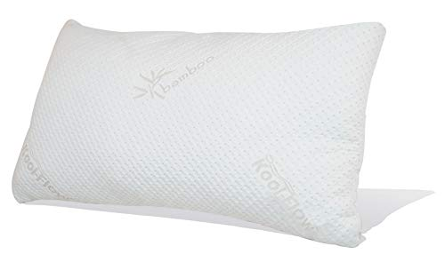 Bed Pillow Size King (Snuggle-Pedic Original Ultra-Luxury Bamboo Shredded Memory Foam Combination Pillow with Best Breathable Kool-Flow Hypoallergenic Bed Pillow Outer Fabric Covering - Made in The USA - King (No Zippers))