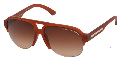 Exchange Armani Sunglasses AX4019S 808113 Matte Pumpkin Spice Light Brown Gradient 58 15 - Armani 2014 Sunglasses