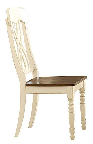 Homelegance Ohana 2 Piece Pack Causal Dining Chairs, White & Cherry