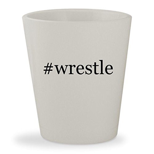 #wrestle - White Hashtag Ceramic 1.5oz Shot Glass (Tna Wrestling 360 Xbox)