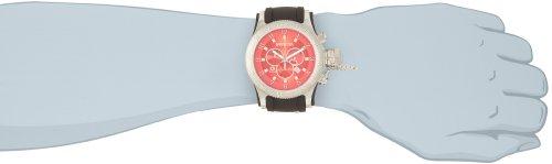 Invicta Men's 10135 Russian Diver Chronograph Red Dial Black Polyurethane Watch