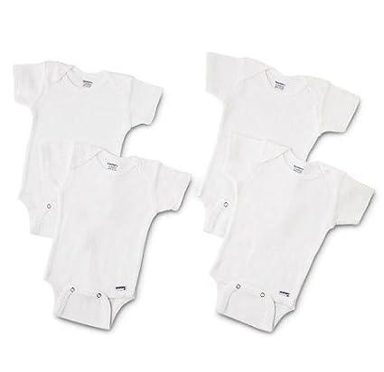 Amazon Com 4 Pk Gerber Short Sleeve Onesie Size 3t Solid White