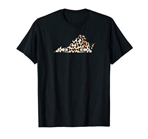 Cool Home Virginia State Leopard Cheetah Print T-shirt