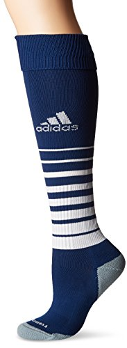adidas Team Speed Soccer Socks (1-Pack), New Navy/White 3, Small