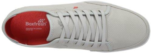 Boxfresh Sparko Leather Mens Shoes Grey/Grey choice online buy cheap wholesale price EqRCiX