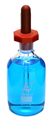 125mL Dropping Bottle with Eye Dropper - Borosilicate Glass - Octagonal Top - Clear