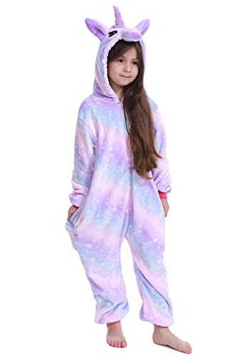 Kids Unicorn Onesie Pajamas Costume for Halloween Cosplay 100(Suggested Height: 36
