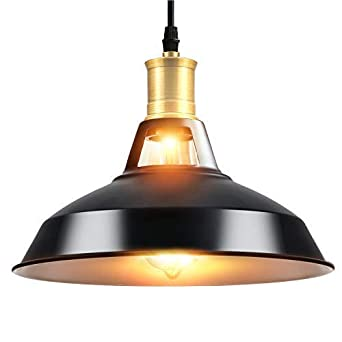 Louvra Suspension Luminaire Vintage E27 Retro Industrielle En Metal