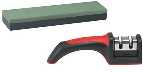 Culinary Depot Knife Sharpener Two Stage Courses With An 8 Inch Fine Grain Knife Sharpening Stone