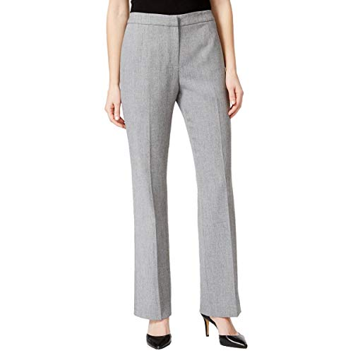 Kasper Women's Stretch Crepe Kate Trouser Pant, Grey/Black, 14 from Kasper