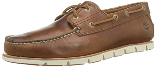 - Timberland Mens Tidelands 2 Eye Summer Suede Boat Lace Up Smart Shoes - Brown - 13