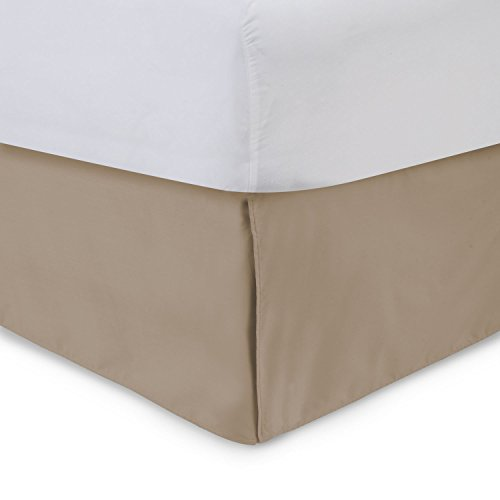 Shop Bedding Harmony Lane Tailored Bed Skirt - 14 inch Drop, Camel, Queen Bedskirt with Split Corners (Available in and 16 -