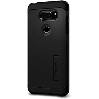 Spigen Tough Armor LG V30 Case with Kickstand and Extreme Heavy Duty Protection and Air Cushion Technology for LG V30 (2017) - Black