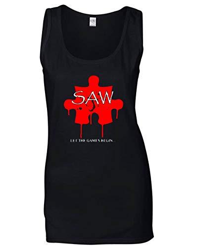 Puzzle Nera Canottiera Shirtshock Saw T Donna TR0120 qwCtYSnUx