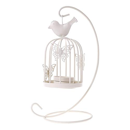 (Glass Bell - Butterfly Birdcage Candlestick Lantern Party Home Decor Standing Retro Iron Candle Holder 2019 - Mercury Angel Dinner Silver Animal African Brass Enclosed Industrial Lotus Bronze)