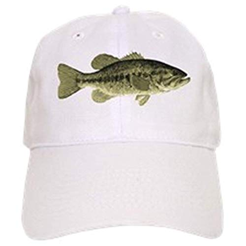 LUDEM Largemouth Bass - Baseball Cap with Adjustable Closure, Unique Printed Baseball Hat