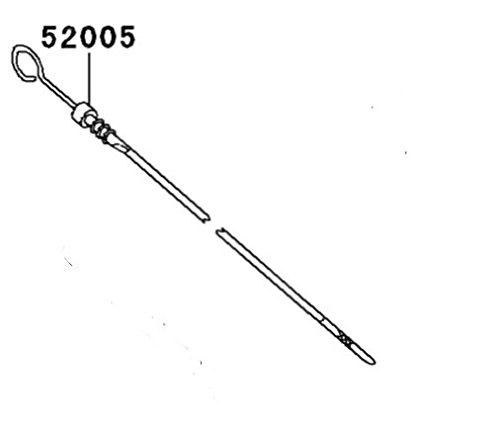 (Kawasaki Mule 4010, 3010, 2510 Oil Gauge/Dipstick (Diesel Engines Only) OEM 52005-1139)