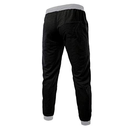 Primavera Otoño Ocio Battercake Hombre Para Pantalones Cómodo Hombres Deportivos Negro Bw7xptXq