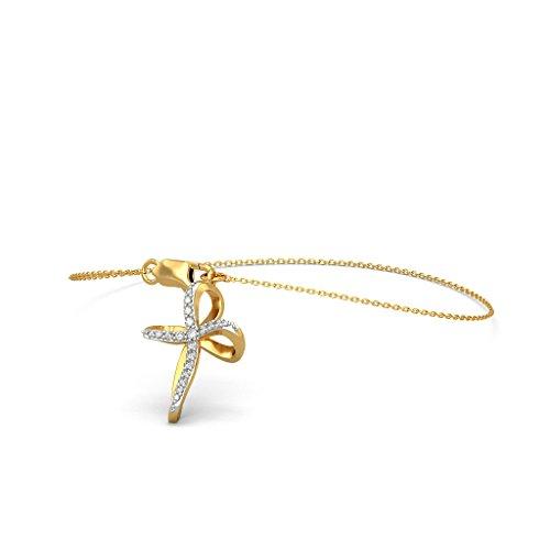 14K Or jaune, 0,21CT TW Round-cut-diamond (Ij| SI) Identification-bracelets