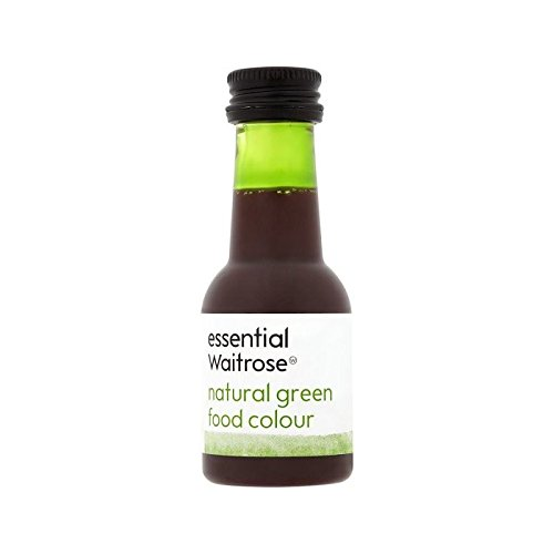 Natural Green Food Colouring essential Waitrose 38ml - Pack of 6