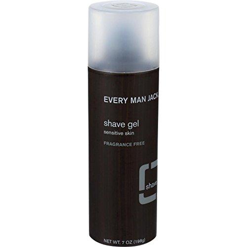 Every Man Jack Shave Gel - Sensitive Skin - Fragrance Free - 7 oz - Every Man Jack Shave Gel