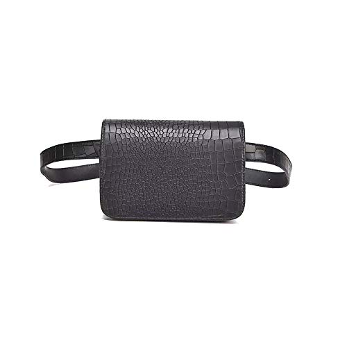 3-Way Using Lightweight Waist Bag for Women Fashion Crossbody Bag Mini Purse Casual Shoulder Bag Black