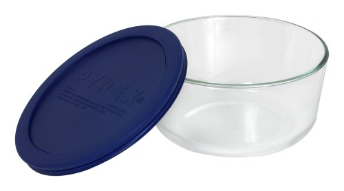 Pyrex Simply Store 4-Cup Round Glass Food Storage Dish - Round Covered Bowl