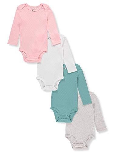 (Carter's Baby Girls 4-Pack Long Sleeve Original Bodysuits Multi Hearts (3 Months) )