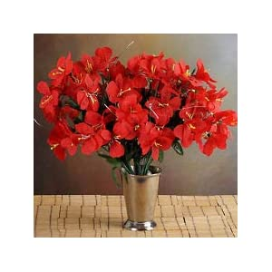 6 RED Bushes Silk Mini PRIMROSES Wedding Flowers Bouquets Decorations on Sale 109