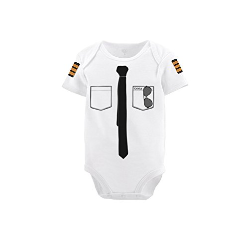 Baby's Pilot Bodysuit (3 Months) White