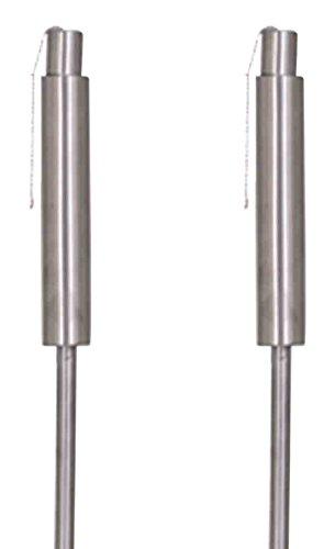 Siena Garden Lampada A Olio Set Cilly, 2Pezzi, Acciaio Inox, Diametro 3,8x 115cm, Argento 365219