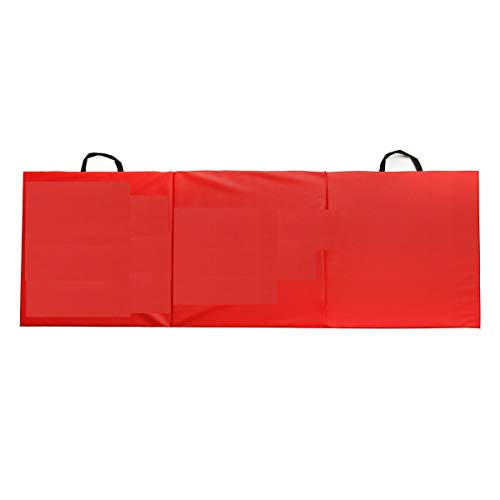 Heize best price Red 10′ x 4′ Tri-Fold Gymnastics Mat Thick Folding Panel Gym Fitness Exercise Mat Gymnastics Sport Yoga Mat with Carrying Handles (U.S. Stock)