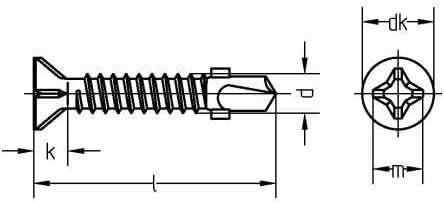 verzinkt farblos 250 St/ück Reidl Bohrschrauben Blechschrauben mit Bohrspitze 6,3 x 60 mm DIN 7504 Stahl galv