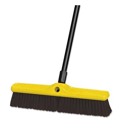 Rubbermaid FG9B1500MARN Push Broom Floor Sweep heavy duty plastic block - Case o (Sweep Duty Floor Heavy Block)